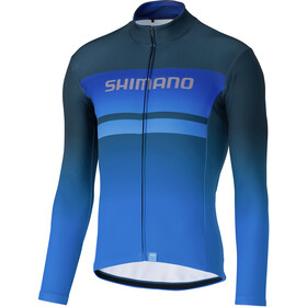 Shimano Team Maillot À Manches Longues Homme, blue